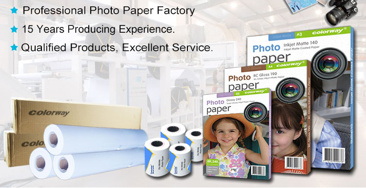 Dual side photo paper